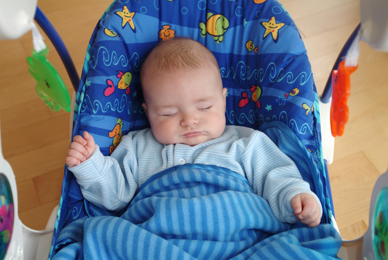 letting baby sleep in swing 1