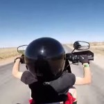 Shocking: Dad allows 6-year-old to drive motorcycle (video)