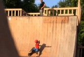 Hard to watch: Video shows father kicking his son off ramp. Screen shot via Instagram.