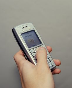 Sexting mobile phone and highly charged