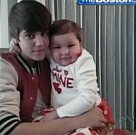 Justin Bieber grants little Avallana her ultimate wish, to meet him while she battles a rare cancer. Screen shot via WCBV.