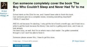 Why do so many students try to cheat on their homework by using Yahoo answers?