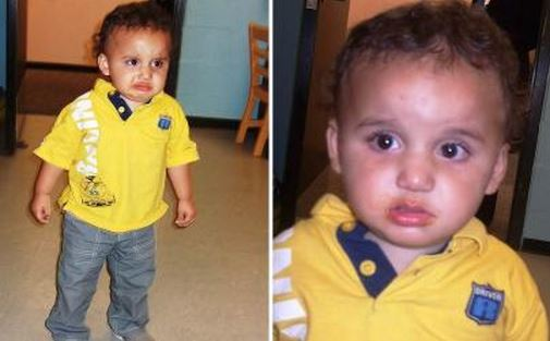 Toddler found walking alone in Houston but nobody has come forward to claim him. Photo via Houston CPS.