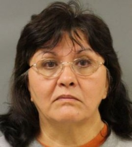 Irene Esther Stokes, 61, accused of fondling first grade student. Mugshot via Humble Police Department.