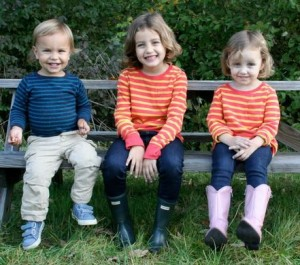 Leo, 2 (far left), and Lulu, 6 (middle) were murdered by their Nanny last fall. Nessie, 4 (right) survived because she was not present. Photo via Facebook.