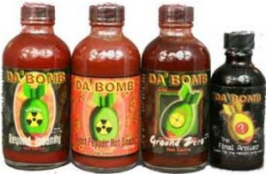Teen used Da' Bomb hotsauce as prank in end of the year school stunt. Photo via dabombhotsauce.com.