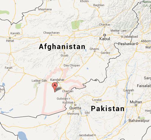 Kandahar province, Afghanistan, where Taliban militants beheaded two children. Photo via Google Maps.