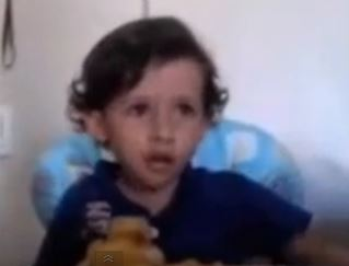 Three-year-old Luiz Antonio explains why people should be vegetarians. Screen shot via You Tube.