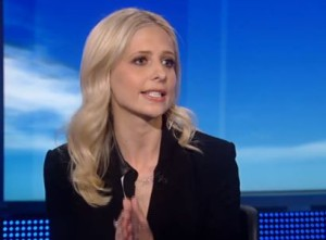 Sarah Michelle Gellar on board with whooping cough vaccination. Screen shot via Fox News.