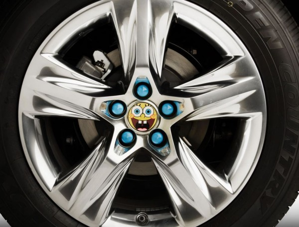 Spongebob SUV hubcap. Photo Toyota.com.