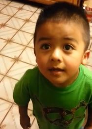 Toddler becomes internet sensation after his power of persuasion goes viral. Screen shot via You Tube.