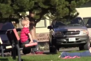 Toddler snatched from park turns out to be staged.